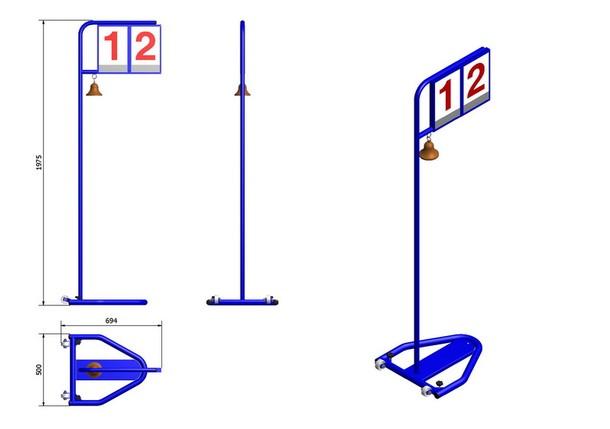 Manual Lap Counter | hurdles and sprints, indicators | Mondo Spa