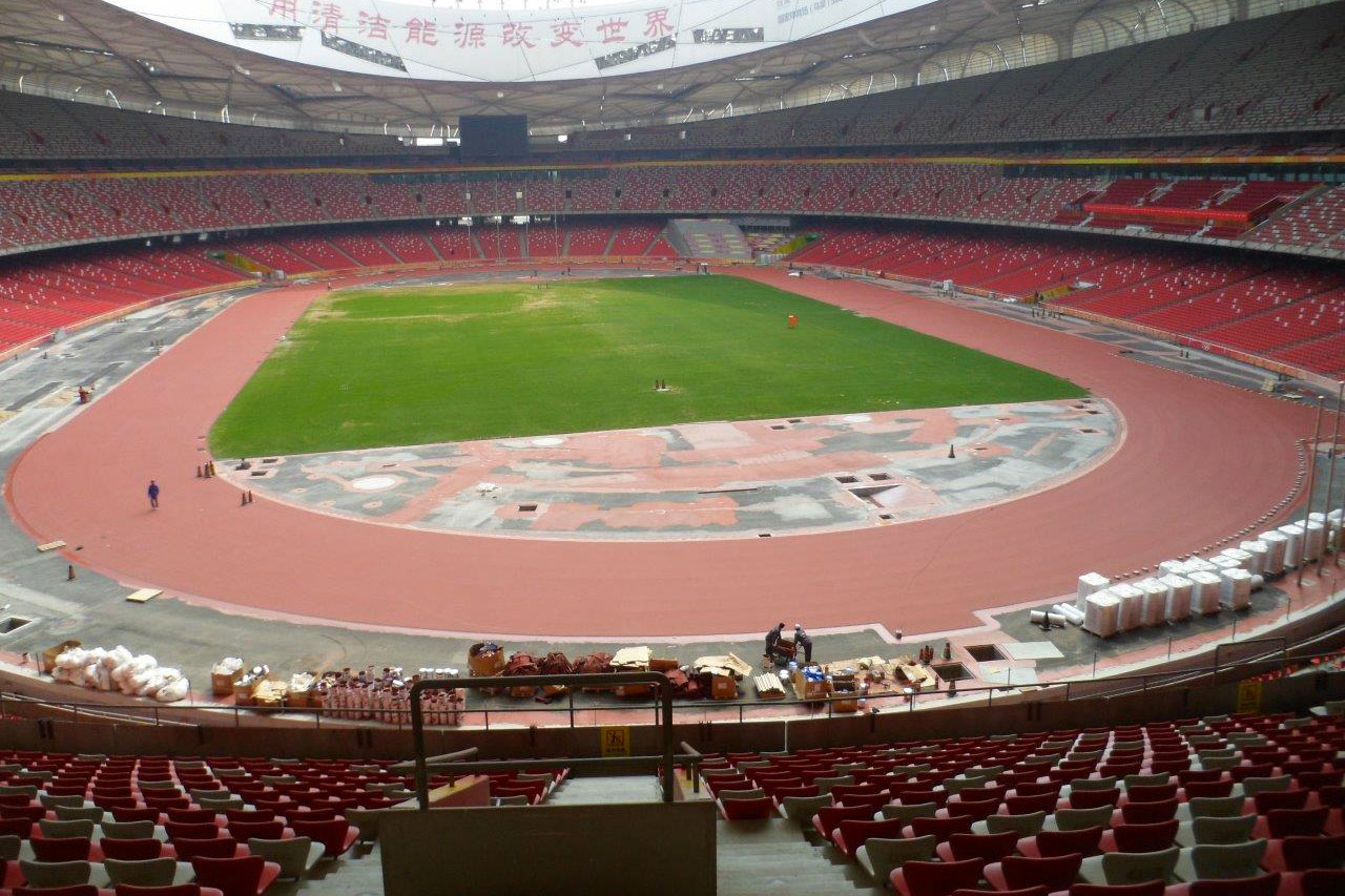 Posa della pista prefabbricata 