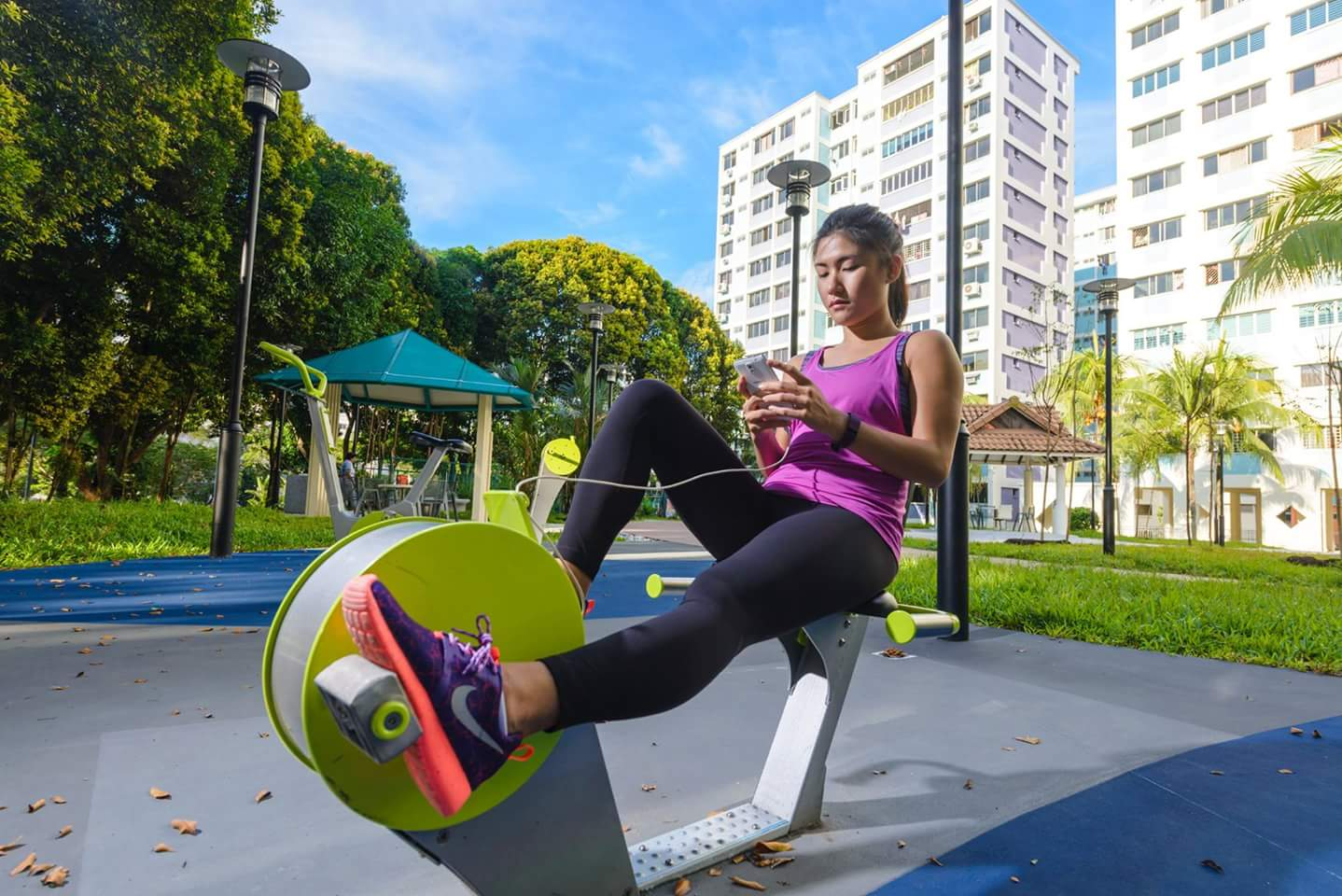 Energy Phone Charging Recumbent  Bike, Singapore © Mondo Spa