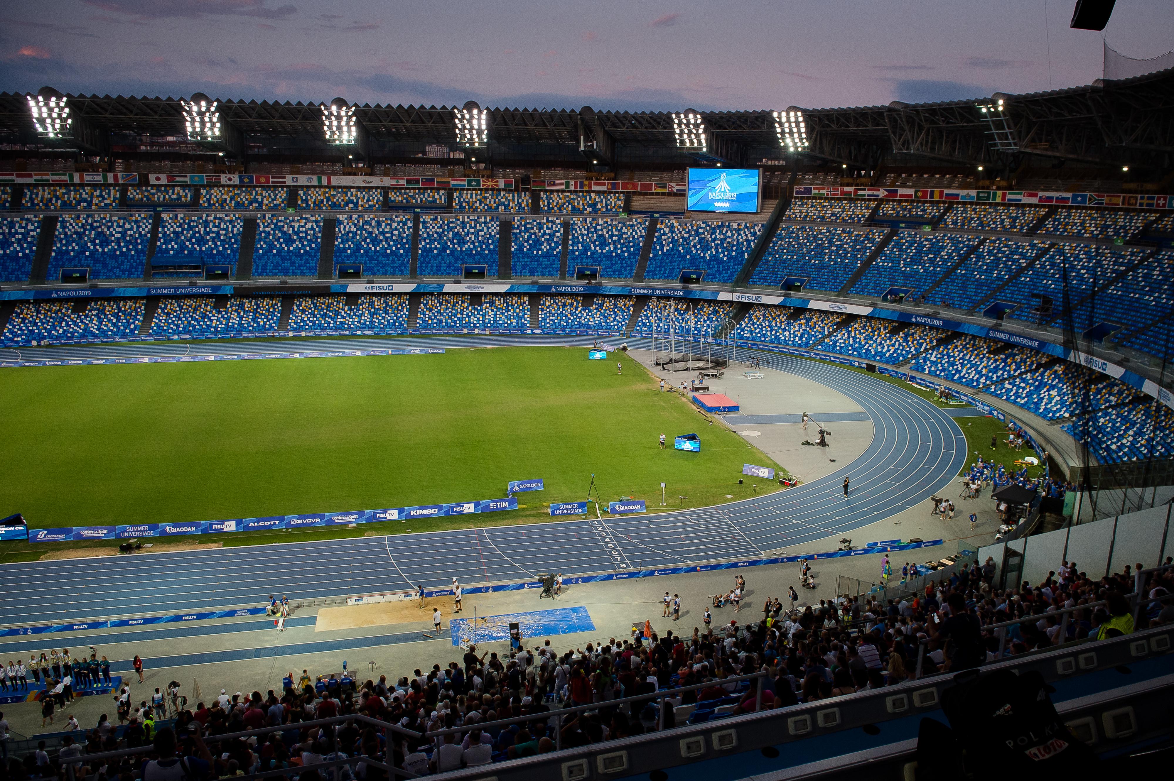 Panoramica Stadio San Paolo, Napoli,  Italia