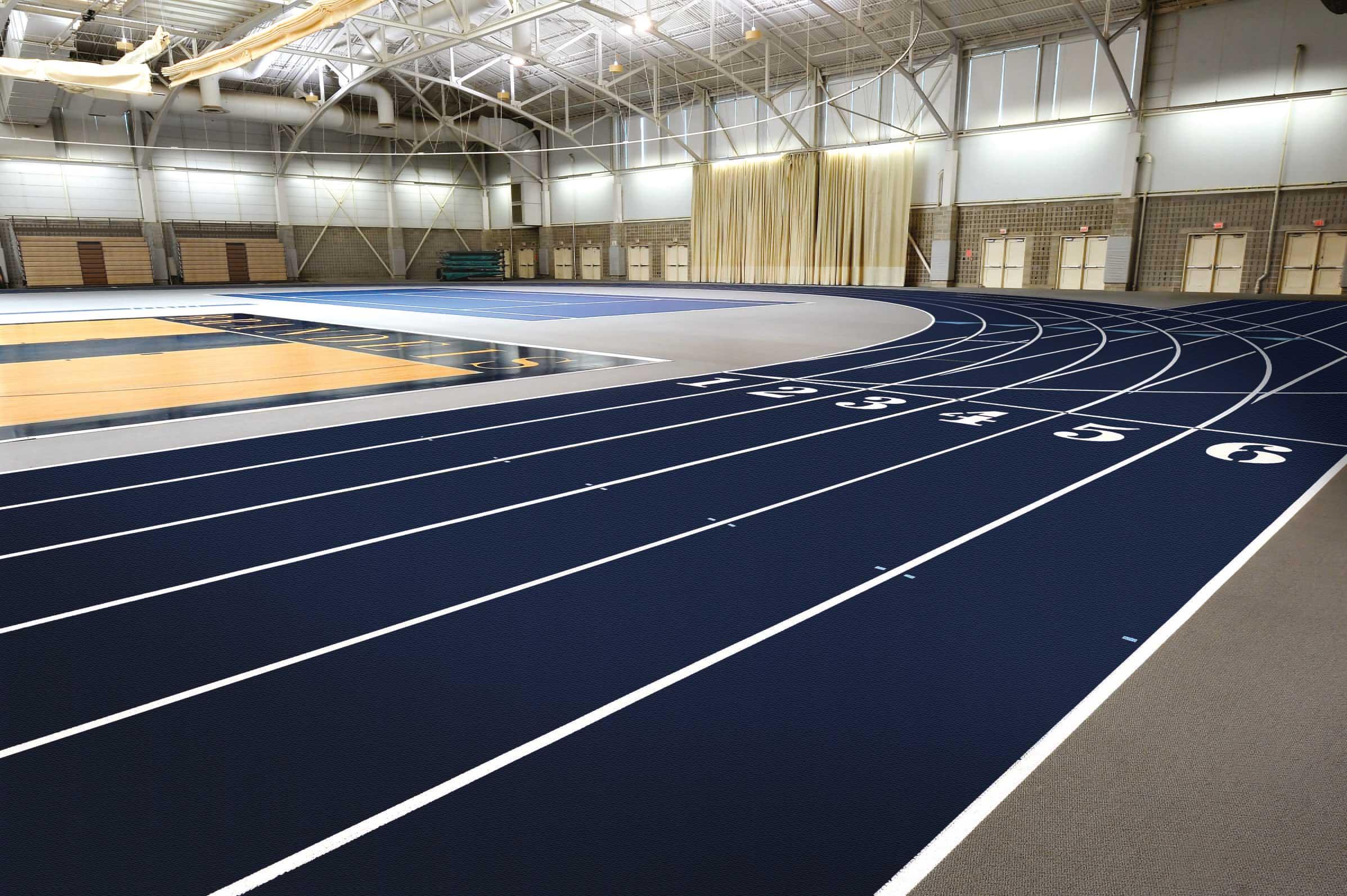 Pista Indoor, Brandeis University,  Waltham, Massachusetts, USA ©  Mondo Spa