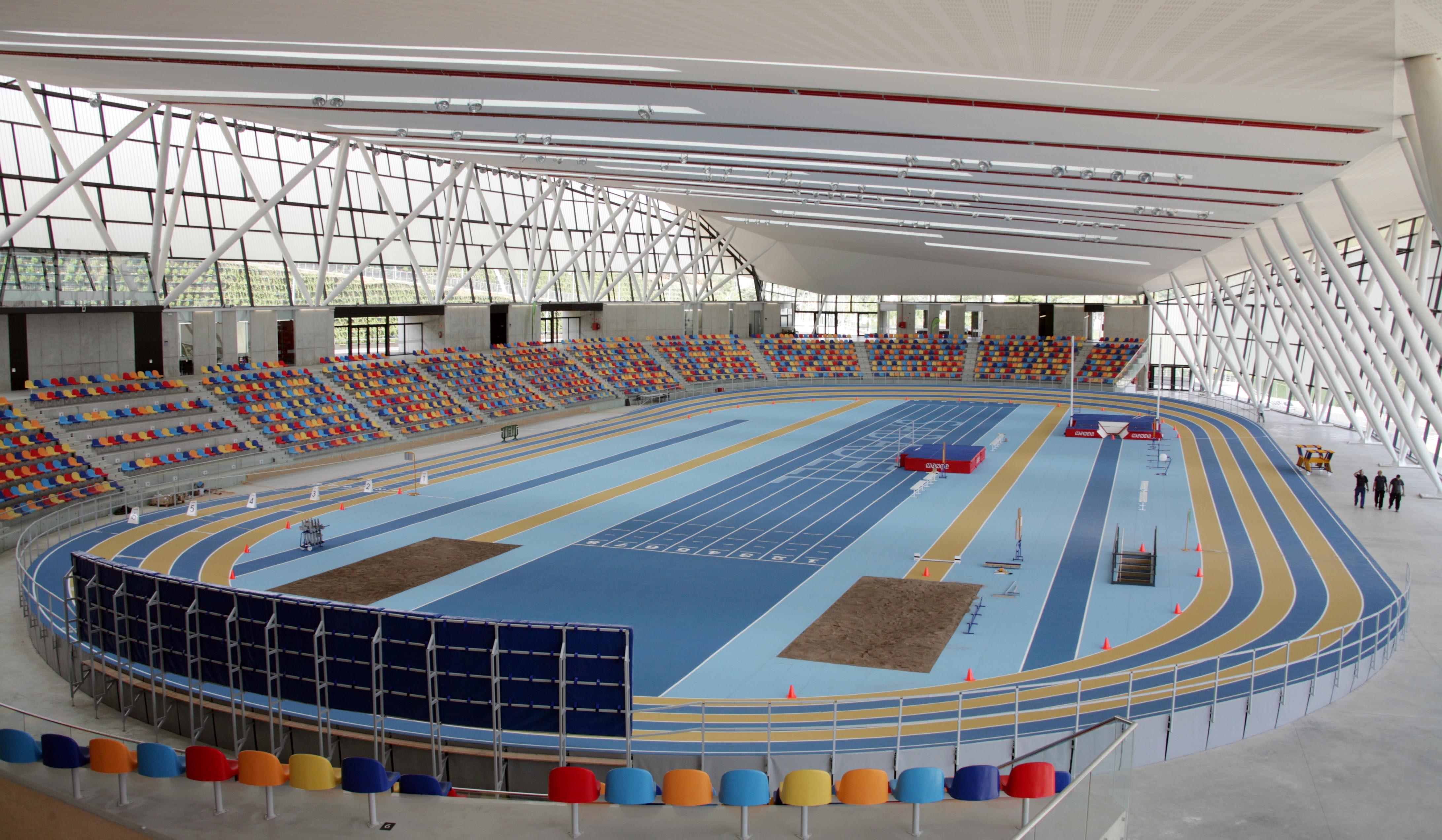 Pista Indoor, Palacio de Deporte de  Sabadell, Barcellona, Spagna ©  Mondo Spa